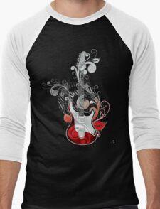 The flower guitar  Men's Baseball ¾ T-Shirt