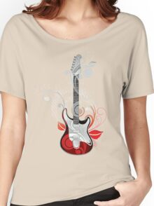 The flower guitar  Women's Relaxed Fit T-Shirt