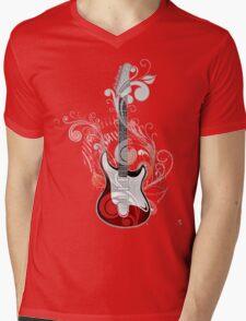 The flower guitar  Mens V-Neck T-Shirt