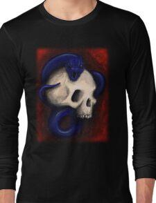 Skull and Snake Tee Shirt Long Sleeve T-Shirt