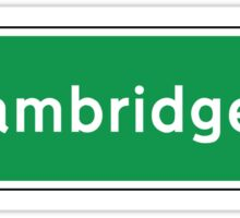 Cambridge, UK Road Sign Sticker