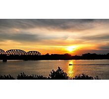 A Beautiful Day On River Photographic Print