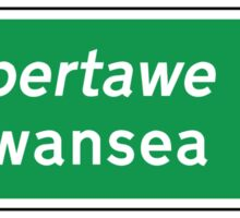 Swansea, UK Road Sign Sticker