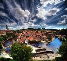 Cesky Krumlov panorama by Stevacek