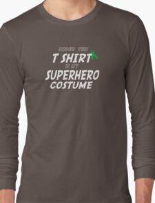 Under this T-shirt is my Superhero Costume - Bone Marrow Ribbon Long Sleeve T-Shirt