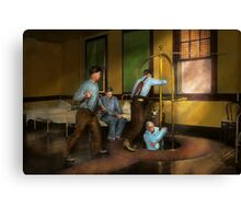 Fireman - The firebell rings 1922 Canvas Print