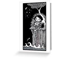 The Eerie Empty Ocean Greeting Card