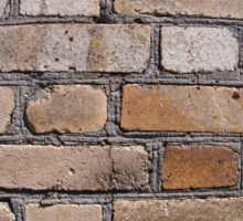 Old wall from gray and brown bricks Sticker