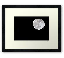 Shoot for the moon because even if you miss, you'll land among the stars. Framed Print