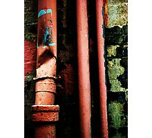 crumpled drains Photographic Print