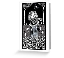 The Little Grey Gravesitter Greeting Card