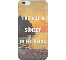 sunset in my veins iPhone Case/Skin