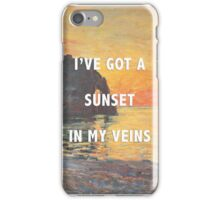 sunset in my veins iPhone Case/Skin