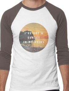 sunset in my veins Men's Baseball ¾ T-Shirt