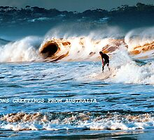 Facing the tide at Merimbula by Pauline Tims