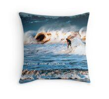 Facing the tide at Merimbula Throw Pillow