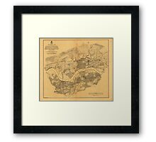 Civil War Knoxville Tennessee Map (1864) Framed Print