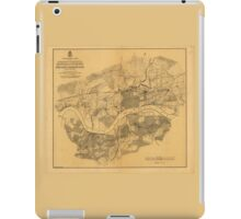 Civil War Knoxville Tennessee Map (1864) iPad Case/Skin