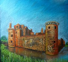 Caerlaverock Castle, Scotland by Hilary Robinson