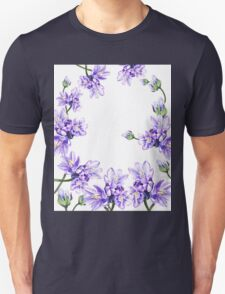Purple Flowers Botanical Swirl T-Shirt