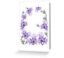 Purple Flowers Botanical Swirl Greeting Card