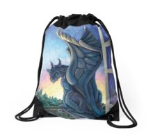 Gargoyle Guardian Drawstring Bag