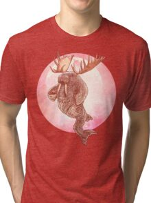 The Space Walrus On Moon Patrol. Tri-blend T-Shirt