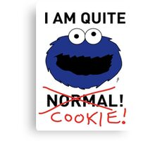 COOKIE MONSTER (BLACK TEXT) Canvas Print