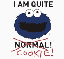 COOKIE MONSTER (BLACK TEXT) by mjfouldes