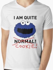 COOKIE MONSTER (BLACK TEXT) Mens V-Neck T-Shirt