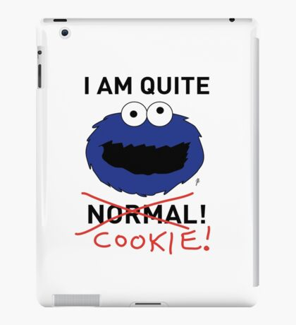COOKIE MONSTER (BLACK TEXT) iPad Case/Skin