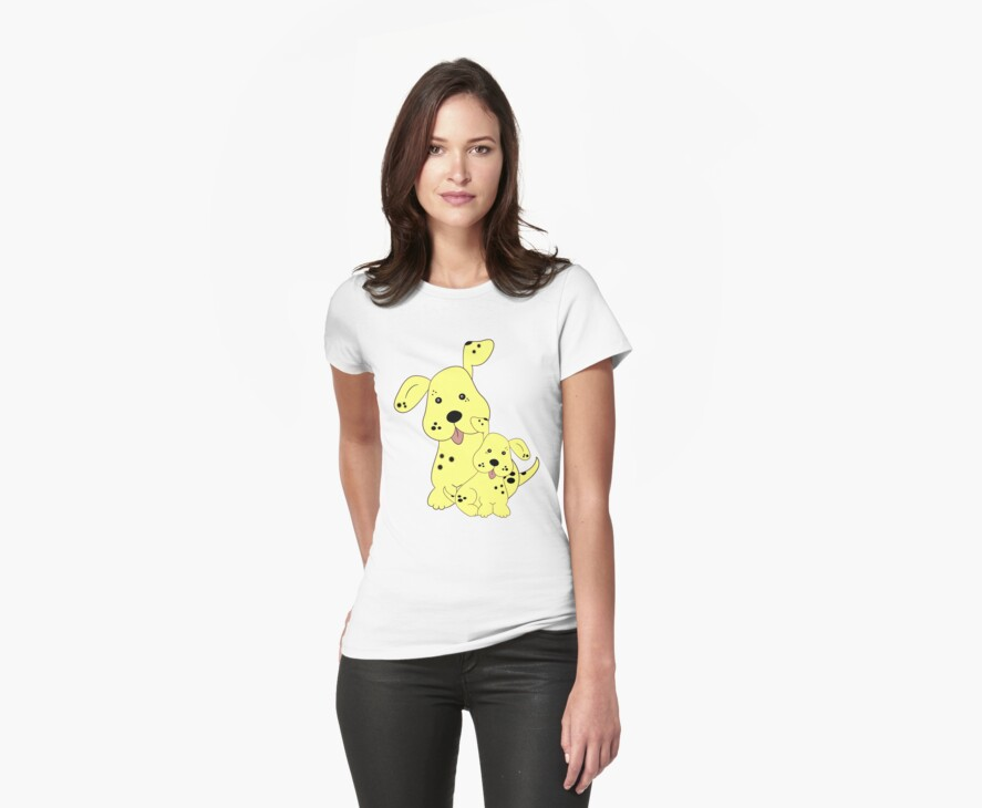 Spotty Dog .. tee shirt by LoneAngel