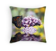 September Monarch  Throw Pillow