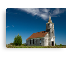 Abandoned County Church Canvas Print