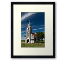 Abandoned Church Standing Tall Framed Print