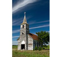 Abandoned Church Standing Tall Photographic Print