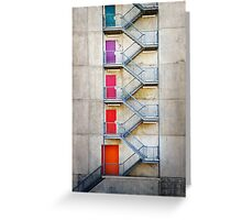 Five Doors Greeting Card