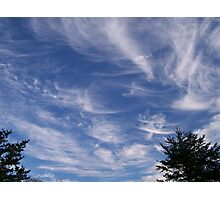 Scattered wispy clouds Photographic Print
