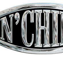 Fish & Chips Atheist Logo Chrome Silver Sticker by ukedward
