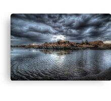 A Dark And Stormy Mid-Afternoon Canvas Print