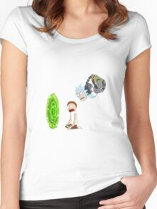 Rick and Morty Portal  Women's Fitted Scoop T-Shirt