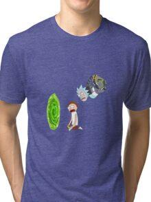 Rick and Morty Portal  Tri-blend T-Shirt