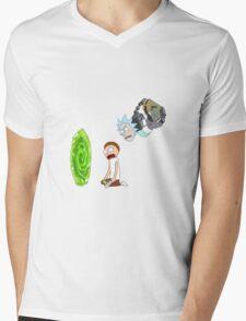 Rick and Morty Portal  Mens V-Neck T-Shirt