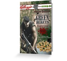 Commando Breakfast Cereal Greeting Card