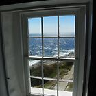 Window View from Pemaquid Lighthouse Tower by MaryinMaine