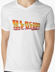 Black to the future Mens V-Neck T-Shirt