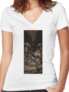 Fungus Forest Women's Fitted V-Neck T-Shirt
