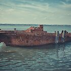 Barge on the Medway by pikeypaddy