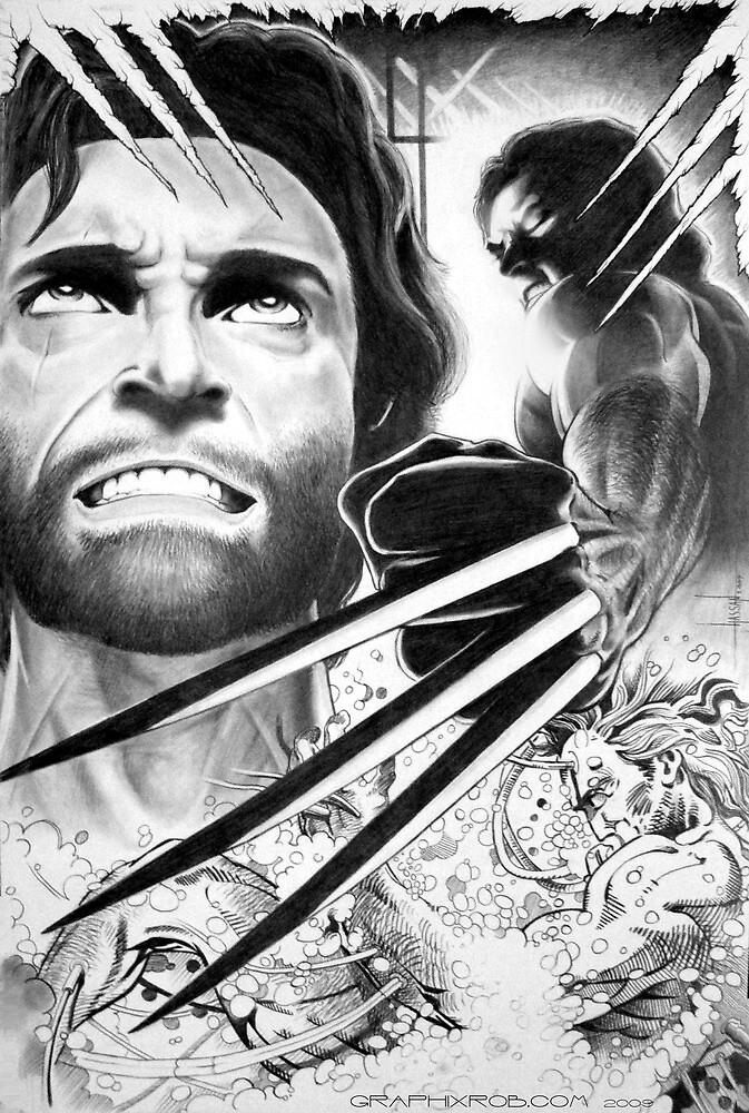 Wolverine origin by graphixrob