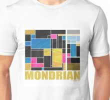Mondrian Blue Pink Black  Unisex T-Shirt